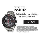 Reloj Invicta Aviator 17204 Acero Inoxidable - Original 8f9e3fc858b3