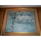 Edgar Degas Serigrafia Sobre Tela Enmarcada Sello De Banco