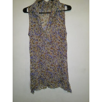 Blusa Camisa De Gasafloreada Talle S