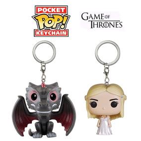 Funko Daenerys E Funko Drogon Chaveiros Game Of Thrones Got