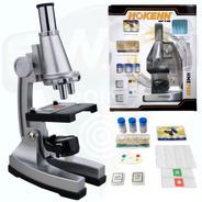 Microscopio Hokenn 750x Zoom Luz Accesorios Visor Niños