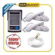 Kit Agl  Porteiro P200 Com 2 Monofones + 50 Metros De Cabo