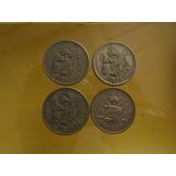 Monedas 25 Centavos Balanza 1950-1953 Las Cuatro Fechas