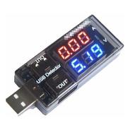 Medidor De Voltaje Digital Tester Amperaje Carga Usb 3 A 9 V