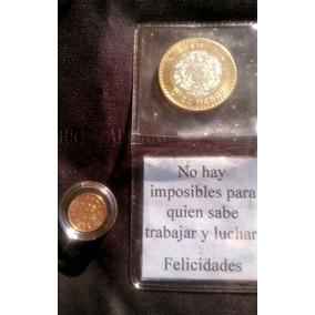 Moneda Oro Siglo Pasado 2 Pesos 140 Mil Acuñadas