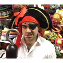 Sombrero Pirata Negro - Excelente Calidad !!