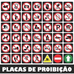 Sinalização Proibição Vetores Corel Draw Placas Vetor Imagem