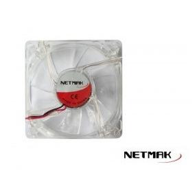 Cooler Ventilador Netmak 80mm Led Gabinete Molex - Compujav
