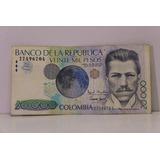 Billete De Colombia De 20000 Pesos 1996