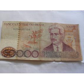 Cédula Nota 50000 Cinquenta Mil Cruzeiros Oswaldo Cruz A