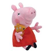 Pelúcia 20 Cm  Pequena Ty  Peppa Pig  Peppa Pig  Dtc