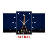 Cuadro Con Reloj Moderno Decorativo Personalizado 60x40