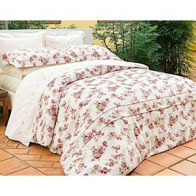 Capa Edredom Super King Poeme 3pçs 100% Alg 230 Fios Flores