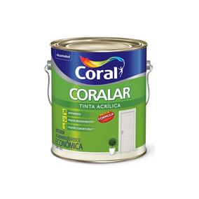 Tinta Acrílica Fosca Coralar Branco Neve 3,6 Litros
