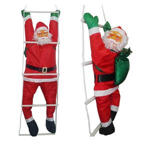 Papai Noel Grande Natal Na Escada 1,58 Metros Natalino
