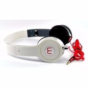 Fone De Ouvido Branco Headphone Mp3 Pc Universal Com Fio