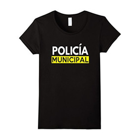Womens Policia Costume T Shirt - La Policía Mexicana Trajes
