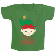 Roupa Infantil Ou Camiseta Infantil Duende Feliz Merry Chris