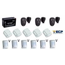 Kit 5 Sensores Magnéticos Ivp Sem Fio Ecp + 3 Controles Fit
