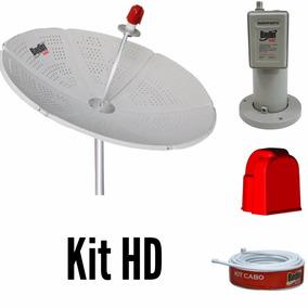 Kit Antena Parabólica Chapa 1,50 Mts + Lnbf Mono + Cabo