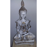 Buda Hindu Zen Atma Hinduismo Yoga Lottus Estatua 40cm Gesso