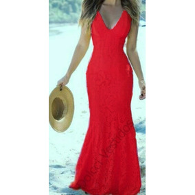 Vestido Longo Renda Top/festas/madrinhas/casamento/formatura