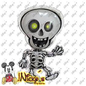 Globo De Esqueleto De 92x54 Cm Halloween O Dia De Muertos