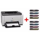 Impresora Laser Color Hp Cp 1025nw + 8 Toners Extra - Envio!