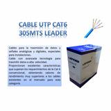 Cable De Red Utp Cat6 305m Con Aislación Unifilar