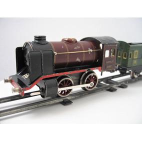 Märklin 1932 Locomotora Cuerda Juguete Antiguo Lámina Vagón