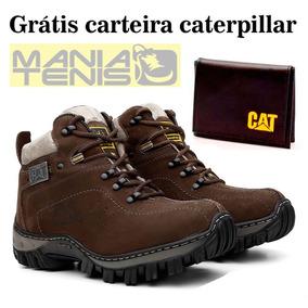 Kit Bota Adventure Caterpillar + Carteira Grátis Compre Já !