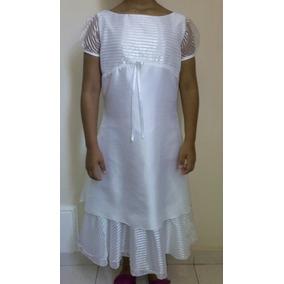 Vestido Primera Comunión Talla 12 Sencillo Y Elegante