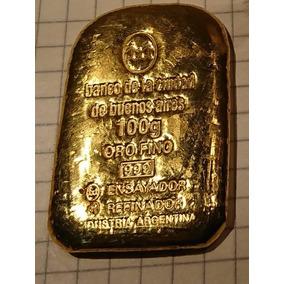Lingote De Oro Banco Ciudad De 100 Gramos