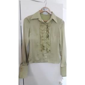 Camisa De Vestir Con Bolados Janet Wise