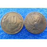 5 Moedas 10 Pesos Chile - Várias Datas - Adilpira