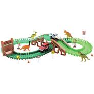 Trilha Maluca Pista Dos Dinossauros Carrinho Blocos Montar