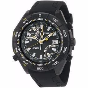 Relógio Timex Masculino Iq Altímetro T2n790su/ti Preto/amare