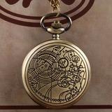 Relógio De Bolso Modelo Retro (antigo) Bronze Com Corrente
