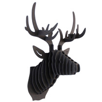 Venado Negro Cabeza Decora Animal Trofeo Valchro8mm Regalo