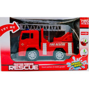 Camion Bomberos Tira Agua Con Luz Y Sonido 15cm 6489