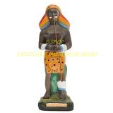 Caboclo Africano Pantera Negra Imagem 20cm Estatua Gesso Br