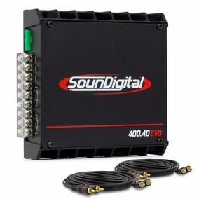 Modulo Amplificador Soundigital Sd400 Nano Digital 4 Canais