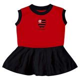 Vestido Infantil Do Flamengo Torcidababy Oficial Menina