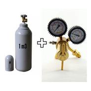 Cilindro(novo) Nitrogênio1,0m3 +regulador Alta Vazao