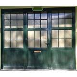 Porton Verde Aluminio Y Policarbonato 3 Hojas 2,95x2,45