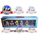 Pack 6 Figuras Sonic The Hedgehog Sega (somos Tienda Fisica)