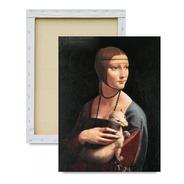 Quadro Dama Com Arminho Impresso Em Tela De Pintura