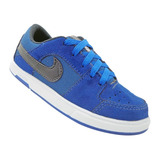 Tênis Infantil Nike Air Force Azul E Preto