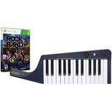 Teclado Inalámbrico Y Juego Rock Band 3 Para Xbox 360