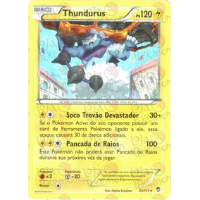 Pokemon Thundurus Punhos Furiosos Card Carta Tcg
